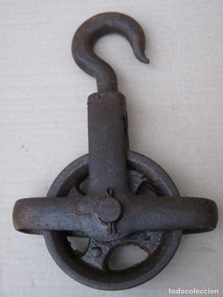 Antigüedades: GRAN GARRUCHA METALICA ANTIGUA. FUNCIONANDO. - Foto 5 - 157361694