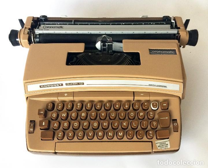 MÁQUINA DE ESCRIBIR SMITH-CORONA SCM CORONET 12 CORONAMATIC ELECTRIC TYPEWRITER (Antigüedades - Técnicas - Máquinas de Escribir Antiguas - Smith)