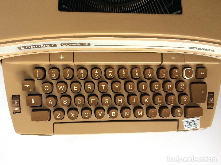 Antigüedades: MÁQUINA DE ESCRIBIR SMITH-CORONA SCM CORONET 12 CORONAMATIC ELECTRIC TYPEWRITER - Foto 3 - 157662178