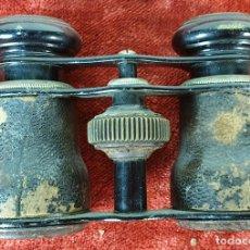 Antigüedades: BINOCULARES DE OPERA. METAL CUBIERTO DE CUERO. SIGLO XX. . Lote 157663582