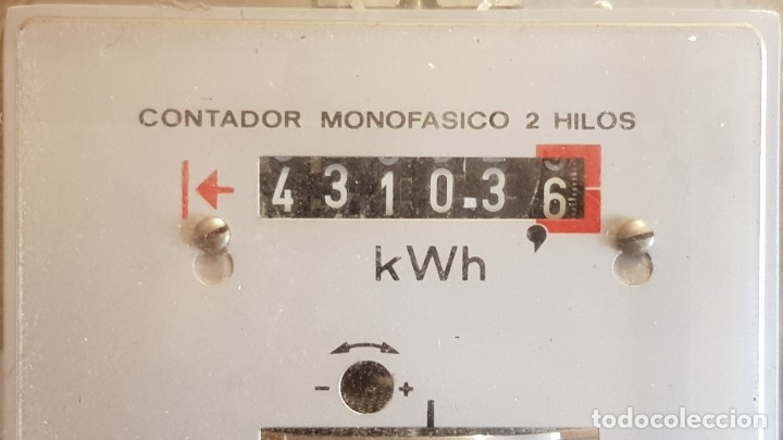 Antigüedades: CONTADOR MONOFÁSICO 2 HILOS / AEG IBÉRICA DE ELECTRICIDAD / AÑO 1972 / COMO NUEVO / CON PRECINTOS. - Foto 5 - 157689542