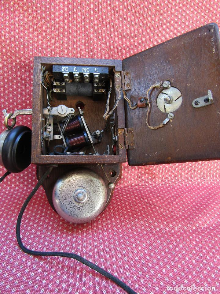 Teléfonos: ANTIGUO TELÉFONO INTERCOMUNICADOR DE MADERA, DE PRINCIPIOS DEL SIGLO XX. - Foto 3 - 157695574