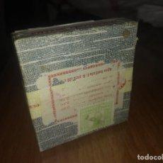 Antigüedades: CAJA ANTIGUA CON SELLO FECHADO EN EL AÑO 1937 MADRID SALIA SEPTOYODO MEDICAMENTO AMPOLLAS. Lote 157702858