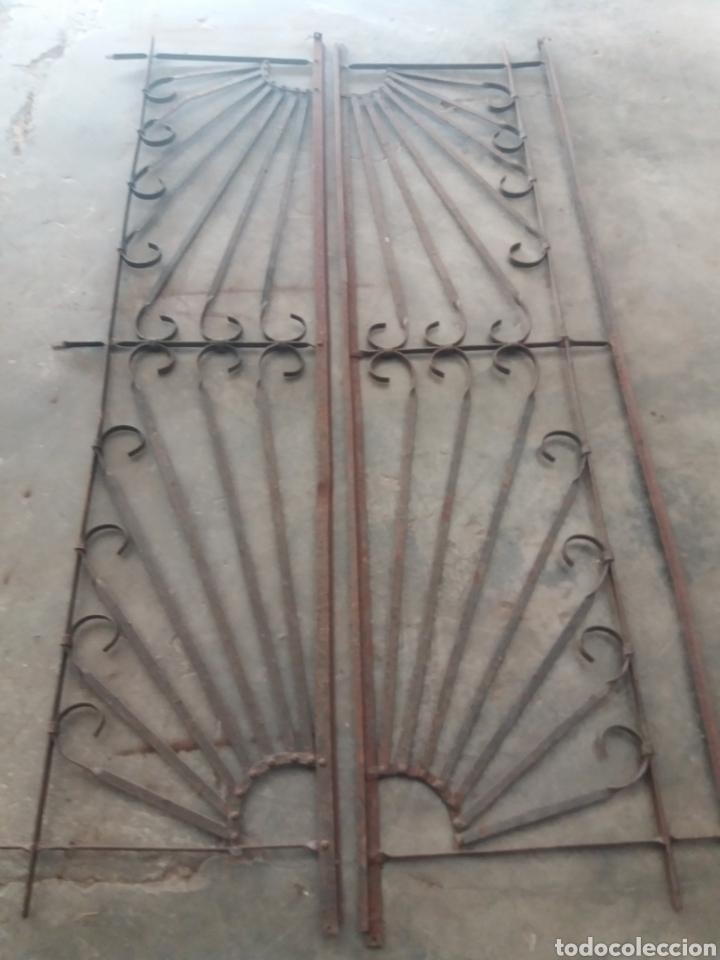 REJA O PUERTA DE HIERRO (Antigüedades - Técnicas - Cerrajería y Forja - Forjas Antiguas)