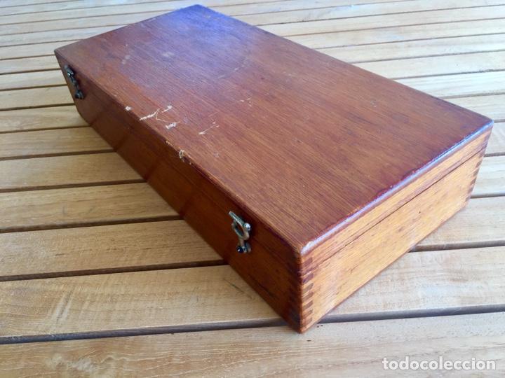 Antigüedades: Colección de instrumental médico en caja de madera. Principios s. XX - Foto 8 - 157810520