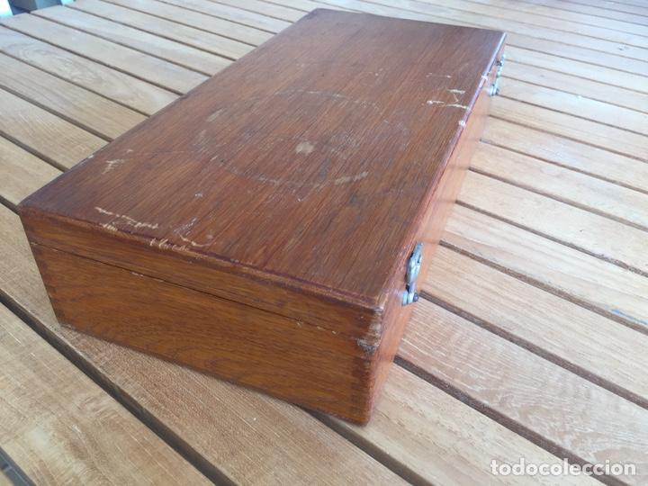 Antigüedades: Colección de instrumental médico en caja de madera. Principios s. XX - Foto 9 - 157810520