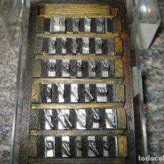 Antigüedades: IMPRENTA, LETRA DE PLOMO - ABECEDARIO - LETRA INGLESA, CUERPO 24. Lote 157850554