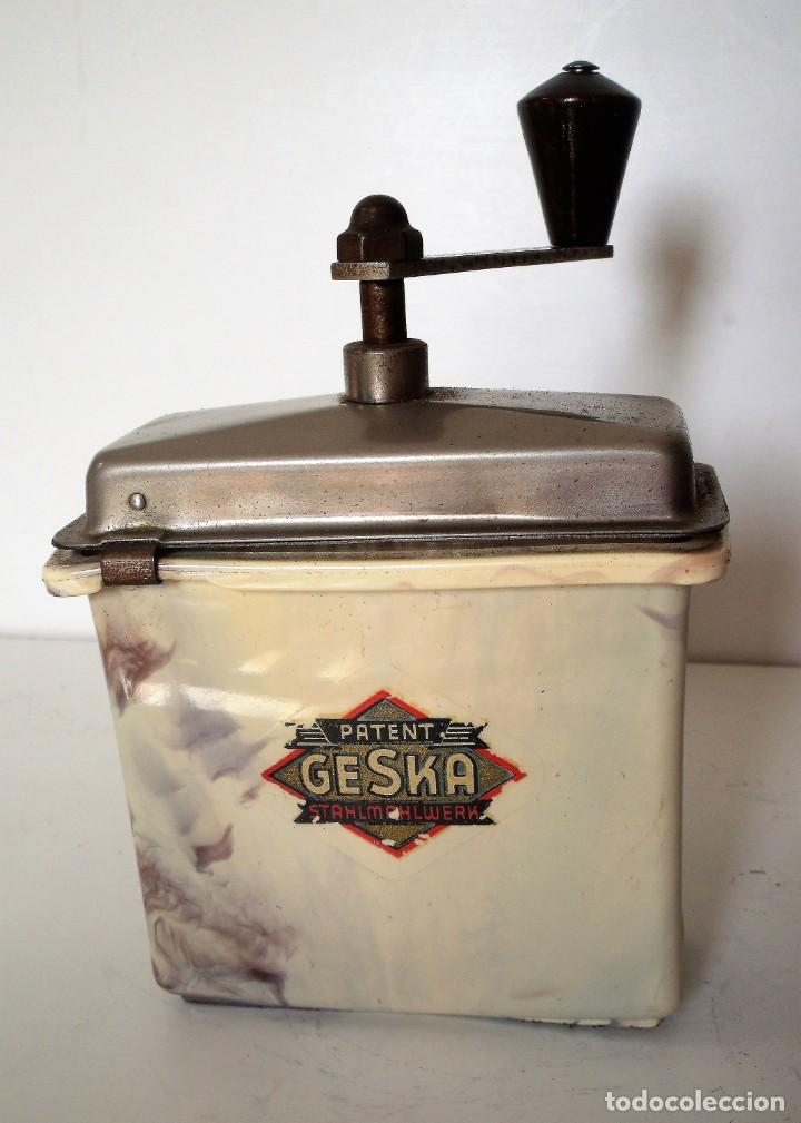Antigüedades: 3 MOLINILLOS DE CAFÉ MARCA GESKA. MODS. LUXUX MOKKA, FORTSCHRIT, Y CAMPING. ALEMANIA. CA. 1949/1955 - Foto 14 - 158025114