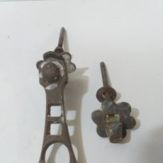 Antigüedades: ANTIGUA ALDABA DE BRONCE FUNDIDO, RARA DE VER. MUY BONITA Y PECULIAR. LLAMADOR O ALDABA.. Lote 158088809