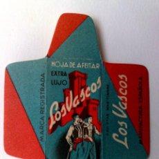 Antigüedades: HOJA DE AFEITAR ANTIGUA,LOS VASCOS,EXTRA LUJO. Lote 158109398