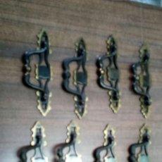 Antigüedades: LOTE DE 8 TIRADORES DE CALAMINA. Lote 158134426