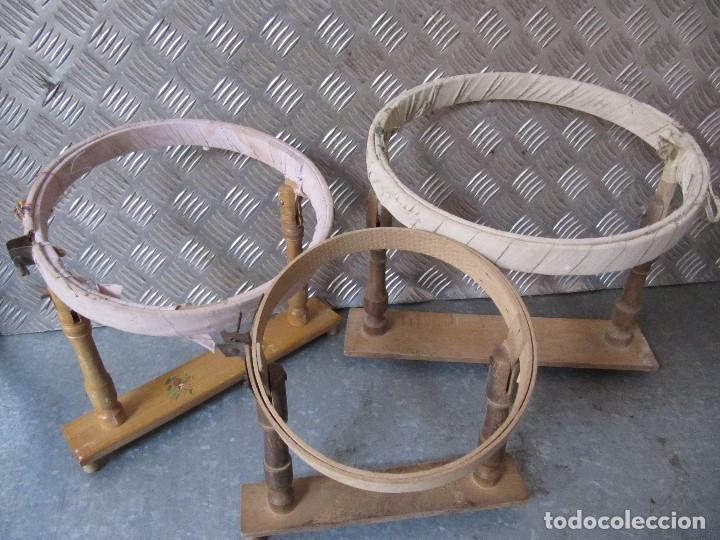 LOTE 3 ANTIGUOS BASTIDORES DE MADERA PARA BORDAR (Antigüedades - Técnicas - Herramientas Antiguas - Otras profesiones)
