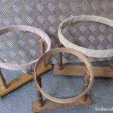 Antiguidades: LOTE 3 ANTIGUOS BASTIDORES DE MADERA PARA BORDAR. Lote 158218942