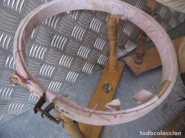 Antigüedades: Lote 3 Antiguos bastidores de madera para bordar - Foto 5 - 195069217