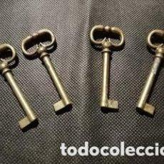 Antigüedades: 4 LLAVES MODERNISTAS -7 CMS.. Lote 158231742
