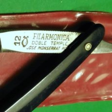 Antigüedades: FILARMONICA Nº 12 (NO ES LA CORRIENTE ESPECIAL CORTE CABELLO) NAVAJA AFEITAR, STRAIGHT RAZOR, RASOIO. Lote 158472130