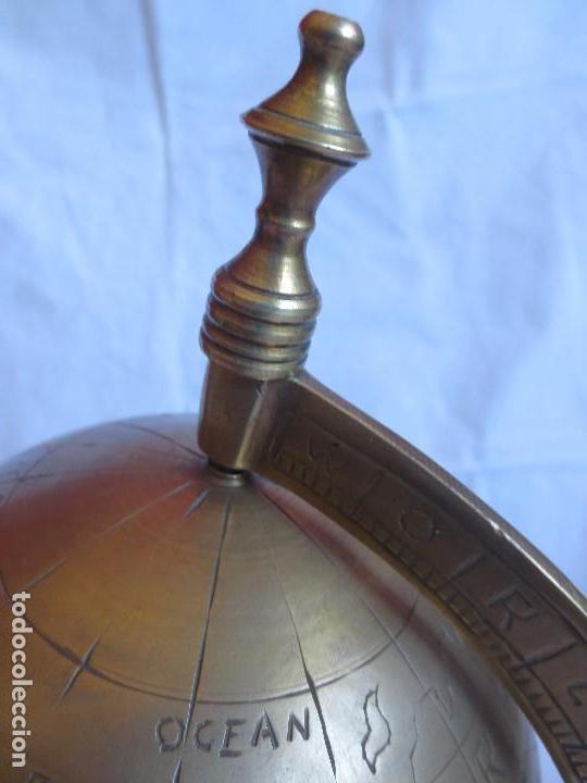 Antigüedades: GLOBO TERRAQUEO - BOLA DEL MUNDO EN BRONCE - Foto 6 - 158506374