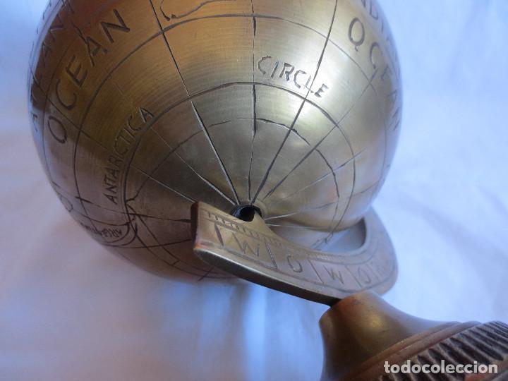 Antigüedades: GLOBO TERRAQUEO - BOLA DEL MUNDO EN BRONCE - Foto 8 - 158506374