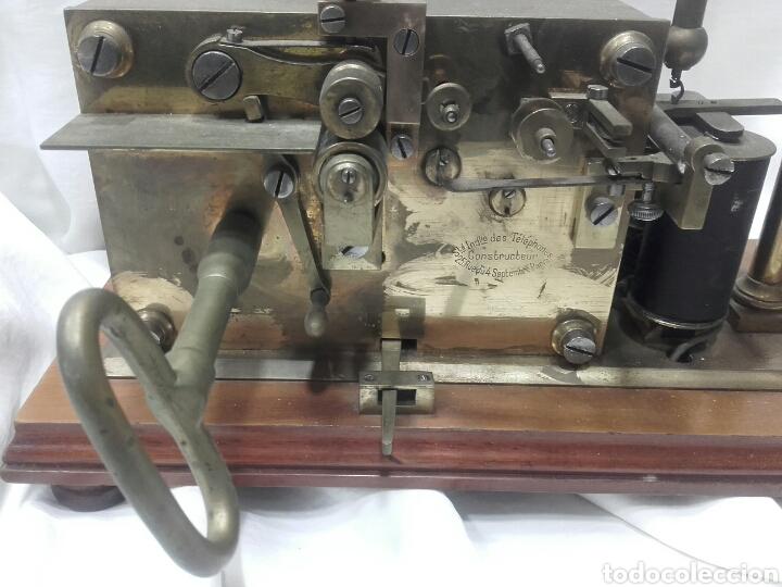 Antigüedades: MAGNÍFICO TELÉGRAFO, USADO EN ESTACIONES DE RENFE ANTES DEL TELÉFONO. Serie L 3-27 Número 19542. - Foto 2 - 158525146