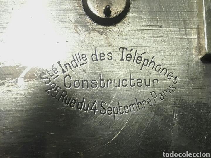 Antigüedades: MAGNÍFICO TELÉGRAFO, USADO EN ESTACIONES DE RENFE ANTES DEL TELÉFONO. Serie L 3-27 Número 19542. - Foto 9 - 158525146