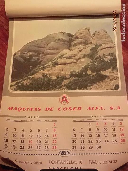 Antigüedades: CALENDARIO DE PARED AÑO 1953 - MÁQUINAS DE COSER ALFA (EIBAR) - Foto 3 - 158578906