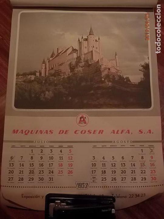 Antigüedades: CALENDARIO DE PARED AÑO 1953 - MÁQUINAS DE COSER ALFA (EIBAR) - Foto 5 - 158578906