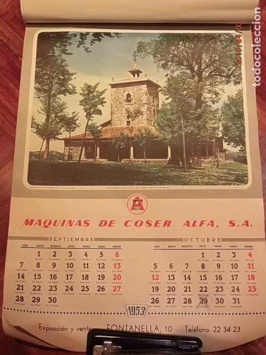 Antigüedades: CALENDARIO DE PARED AÑO 1953 - MÁQUINAS DE COSER ALFA (EIBAR) - Foto 6 - 158578906