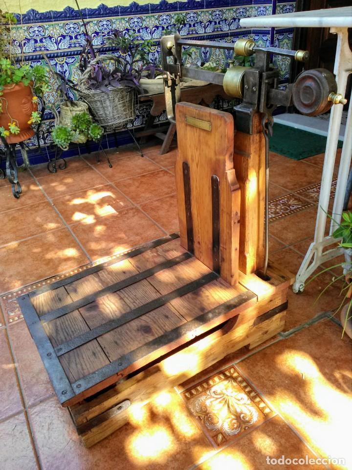 Antigüedades: Báscula antigua de madera - Foto 2 - 158597798