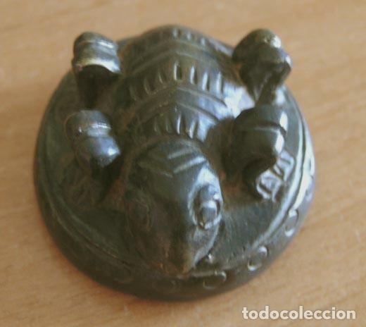 Antigüedades: BIRMANIA: Ponderal - PESO DEL OPIO. TRIÁNGULO DE ORO / S. XIX 36,75 grs. - Foto 2 - 109993970