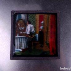 Antigüedades: FOTOGRAMA EN PLACA DE VIDRIO PARA LINTERNA MÁGICA. Lote 158703226