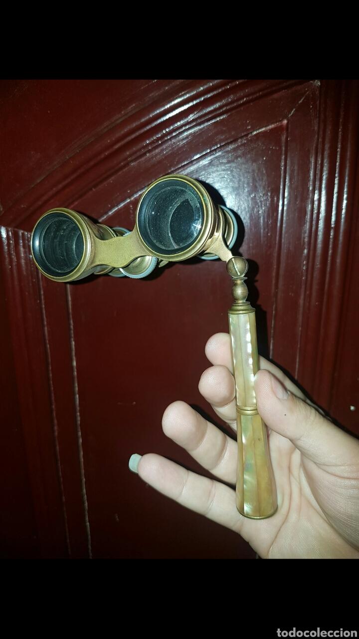 ANTIGUO BINOCULAR PARA OPERA REVESTIDO EN NACAR (Antigüedades - Técnicas - Instrumentos Ópticos - Binoculares Antiguos)