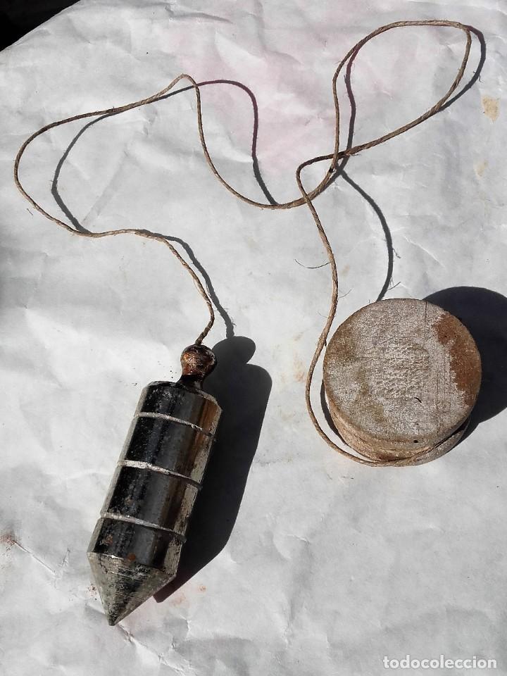 PLOMADA ANTIGUA DE 8 CENTIMETROS (Antigüedades - Técnicas - Herramientas Profesionales - Albañileria)