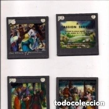 Antigüedades: LA PASIÓN, DIAPOSITIVAS DE VIDRIO PINTADAS POR J. R. BURGESS. - Foto 2 - 158937062
