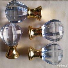 Antigüedades: 4 TIRADORES O POMOS 3,5 CM Y METAL . CAJONES MUEBLES COMODAS ETC LEER. Lote 159047038