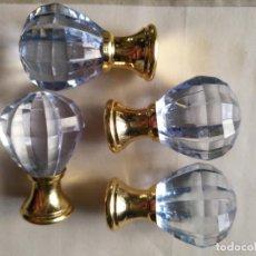 Antigüedades: 4 TIRADORES O POMOS 3,5 CM Y METAL . CAJONES MUEBLES COMODAS ETC LEER. Lote 159047206