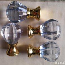 Antigüedades: 4 TIRADORES O POMOS 3,5 CM Y METAL . CAJONES MUEBLES COMODAS ETC LEER. Lote 159047322
