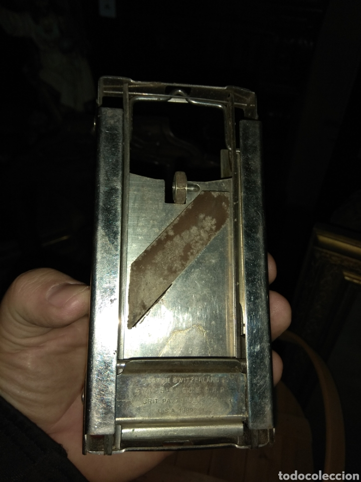 Antigüedades: Pareja de Máquinas Allegro para Afilar Cuchillas - Hojas de Afeitar - - Foto 4 - 159093332