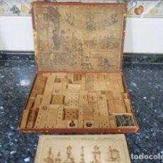 Antigüedades: MECANO ANTIQUISIMO COMPLETO CON PIEZAS DE MADERA. Lote 159118954