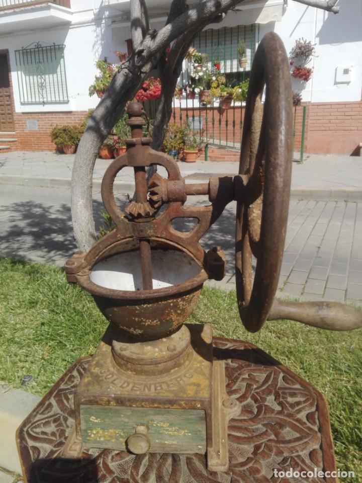 Antigüedades: Gran molino de café goldenberg - Foto 3 - 218644245