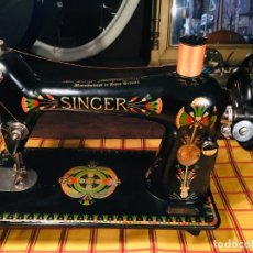 Antigüedades: MAQUINA COSER SINGER LOTUS EGYPTIAN. Lote 159258942