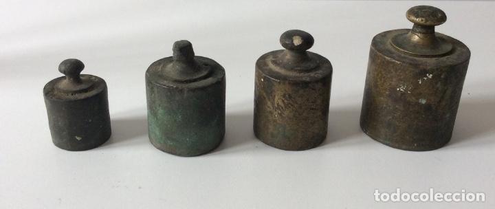 JUEGO DE PESAS. (Antigüedades - Técnicas - Medidas de Peso Antiguas - Otras)