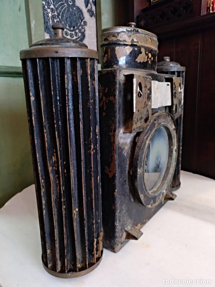 Antigüedades: ANTIGUO APARATO CINEMATOGRAFICO L. GAUMONT - BARCELONA - LINTERNA MAGICA - Foto 2 - 159283546