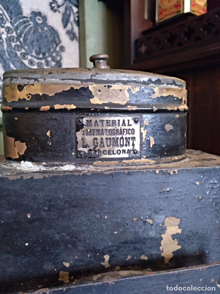 Antigüedades: ANTIGUO APARATO CINEMATOGRAFICO L. GAUMONT - BARCELONA - LINTERNA MAGICA - Foto 3 - 159283546
