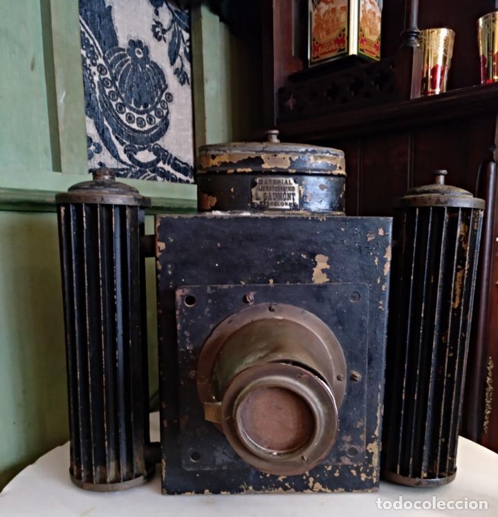 Antigüedades: ANTIGUO APARATO CINEMATOGRAFICO L. GAUMONT - BARCELONA - LINTERNA MAGICA - Foto 14 - 159283546