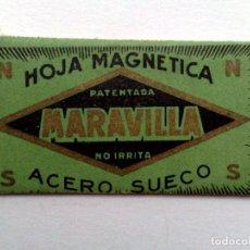 Antigüedades: HOJA DE AFEITAR ANTIGUA,MARAVILLA (45 CTS..) ACERO SUECO.. Lote 159317002
