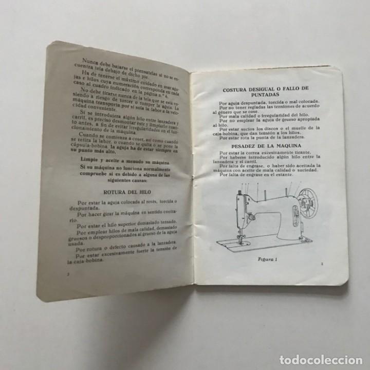 Antigüedades: Sigma. Libro de instrucciones y piezas catalogadas de la maquina de coser y bordar 10,4x15 cm - Foto 3 - 159376594