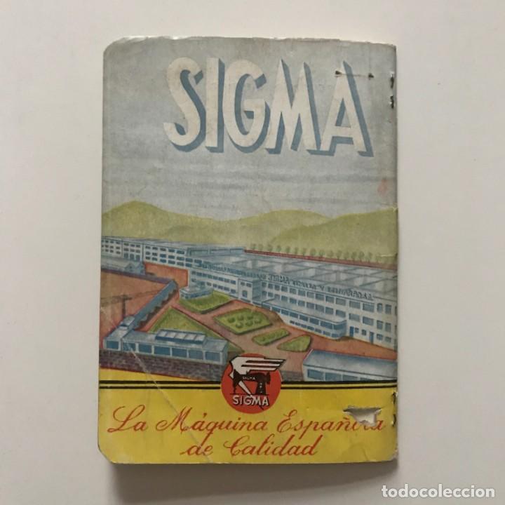 Antigüedades: Sigma. Libro de instrucciones y piezas catalogadas de la maquina de coser y bordar 10,4x15 cm - Foto 7 - 159376594