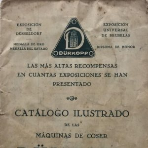 1929 Dürkopp. Catálogo ilustrado de las maquinas de coser 12,6x17,5 cm