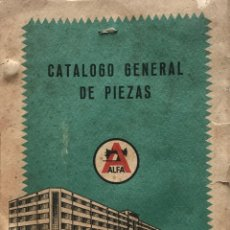 Antigüedades: ALFA. CATÁLOGO GENERAL DE PIEZAS. MÁQUINAS DE COSER ALFA, SA. EIBAR (ESPAÑA) 15,5X21,4 CM. Lote 159377158