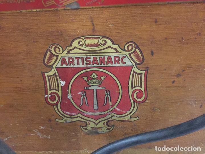 Antigüedades: Excepcional soldador antiguo, completo. Buen estado. ARTISANARC, caja original de madera. J&G HAMAL - Foto 6 - 159500034